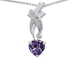 Star K™ 925 Simulated Heart Alexandrite Pendant Necklace style: 302363