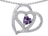 Star K™ Simulated Heart Shape Alexandrite Pendant Necklace style: 302422