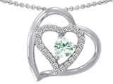 Star K™ Genuine Heart Shape Green Amethyst Pendant Necklace style: 302427