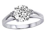 Tommaso Design™ Genuine White Topaz Ring style: 302541