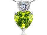 Tommaso Design™ 6mm Heart Shape Genuine Peridot Pendant style: 302677