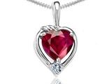Tommaso Design™ Heart Shape 6mm Created Ruby Pendant style: 302697
