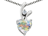 Star K™ Genuine Heart Shaped Swarovski Crystal Pendant Necklace style: 302794