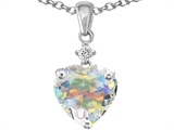 Star K™ 8mm Heart Shape Swarovski Crystal Pendant Necklace style: 302795