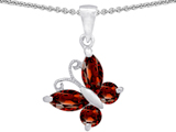 Star K™ Butterfly Pendant Necklace Made with Simulated Garnet style: 302948