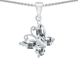 Original Star K™ Butterfly 1-inch Pendant Made with Genuine White Topaz style: 302960