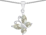 Star K™ Butterfly Pendant Necklace Made with Sea Shell style: 302972