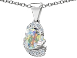 Star K™ Heart Shaped Genuine Swarovski Crystal And Cubic Zirconia Pendant Necklace style: 302983