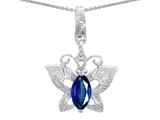 Star K™ Butterfly Pendant Necklace Made with Created Sapphire style: 303209