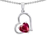 Original Star K™ 7mm Heart Shape Created Ruby Pendant style: 303353