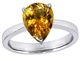 Star K™ Large 11x8 Pear Shape Solitaire Ring With Simulated Citrine style: 303799