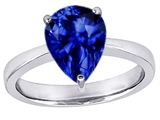 Star K™ Large 11x8 Pear Shape Solitaire Ring with Created Sapphire style: 303806