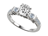 Original Star K™ Round 7mm Genuine White Topaz Ring style: 303827