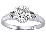 Tommaso Design™ Genuine White Topaz set in Engagement Ring style: 303837