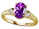 Tommaso Design™ Genuine Amethyst Ring style: 303839