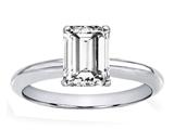 Tommaso Design™ Genuine White Topaz 8x6mm Emerald Cut Engagement Ring style: 303861