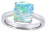 Star K™ Large 10mm Cushion Cut Solitaire Ring with Simulated Opal style: 303995
