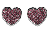 Star K™ Heart Shape Love Earrings with Created Ruby style: 304161