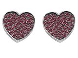 Star K™ Heart Shape Love Earrings with Created Ruby style: 304161