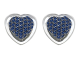 Star K™ Heart Shape Love Earrings with Created Sapphire style: 304203
