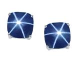 Tommaso Design™ 7mm Cushion Cut Created Star Sapphire Earrings Studs style: 304864