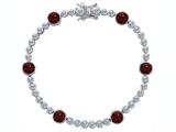 Original Star K™ Classic Round 6mm Genuine Garnet Tennis Bracelet style: 304919