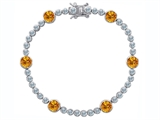 Original Star K™ Classic Round 6mm Genuine Citrine Tennis Bracelet style: 304922