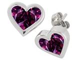 Tommaso Design™ Genuine Invisible Set Rhodolite Earrings style: 305018