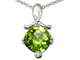 Tommaso Design™ Genuine Peridot Pendant Necklace style: 305043
