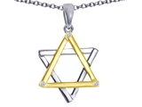 Tommaso Design™ Genuine Jewish Star of David Pendant Necklace by Devorah. style: 305044