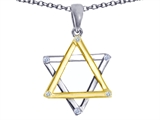 Tommaso Design™ Genuine Jewish Star of David Pendant Necklace by Devorah. style: 305047