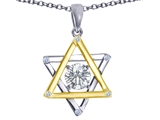 Tommaso Design™ Genuine Jewish Star of David Pendant by Devorah. style: 305051