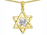 Tommaso Design™ Genuine Jewish Star of David Pendant by Devorah. style: 305053