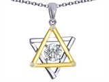 Tommaso Design™ Genuine Jewish Star of David Pendant by Devorah. style: 305104