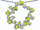 Star K™ Large Circle Of Love Pendant Necklace With 20 Simulated Peridot Hearts style: 305169