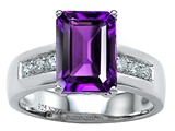Star K™ Classic Octagon Emerald Cut 9x7 Ring With Simulated Amethyst style: 305545
