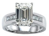 Star K™ Classic Octagon Emerald Cut 9x7 Ring With Genuine White Topaz style: 305554