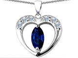 Original Star K™ Heart Pendant With Marquee Cut Created Sapphire style: 305595
