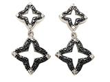 Star K™ Cubic Zirconia Black Star Earrings Studs style: 305791