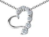 Star K™ Heart Pendant Necklace with Round Cubic Zirconia style: 305797