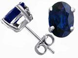 Tommaso Design™ Oval 7x5 Genuine Sapphire Earrings Studs style: 305900
