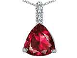 Star K™ Large 12mm Trillion Cut Created Ruby Pendant Necklace style: 306025