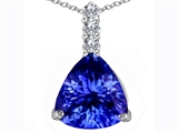 Star K™ Large 12mm Trillion Cut Simulated Tanzanite Pendant Necklace style: 306027