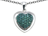 Star K™ Heart Shape Love Pendant Necklace with Simulated Emerald style: 306204