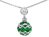 Original Star K™ Simulated Emerald Ball Pendant style: 306210