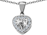 Original Star K™ 8mm Heart Shape White Topaz Heart Pendant style: 306260