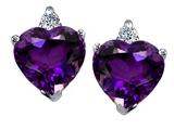 Original Star K™ 7mm Heart Shape Genuine Amethyst Earrings style: 306284
