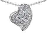 Star K™ Heart Shape Love Pendant Necklace With Round Cubic Zirconia style: 306291