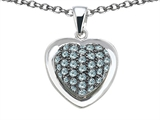 Original Star K™ Heart Shape Love Pendant with Simulated Aquamarine style: 306369