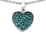 Star K™ Heart Shape Love Pendant Necklace with Simulated Emerald style: 306414
